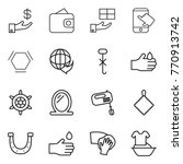 thin line icon set   investment ... | Shutterstock .eps vector #770913742
