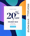 20  off sale. discount special... | Shutterstock .eps vector #770914366