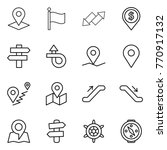 thin line icon set   pointer ... | Shutterstock .eps vector #770917132