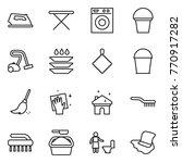 thin line icon set   iron ... | Shutterstock .eps vector #770917282