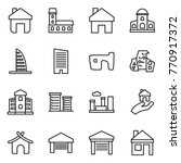 thin line icon set   home ... | Shutterstock .eps vector #770917372