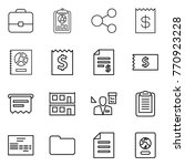 thin line icon set   portfolio  ... | Shutterstock .eps vector #770923228