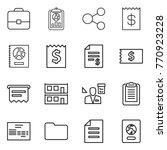 thin line icon set   portfolio  ... | Shutterstock .eps vector #770923228