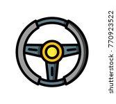 transport   steering wheel  | Shutterstock .eps vector #770923522