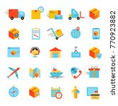 delivery app modern flat icons... | Shutterstock . vector #770923882