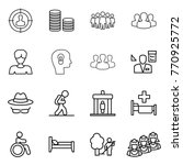 thin line icon set   target... | Shutterstock .eps vector #770925772