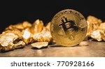 cryptocurrency bitcoin and... | Shutterstock . vector #770928166
