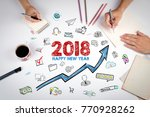 2018 happy new year. the... | Shutterstock . vector #770928262