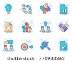 management icon series in flat... | Shutterstock .eps vector #770933362
