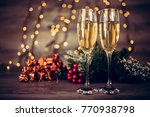 christmas decoration with two... | Shutterstock . vector #770938798