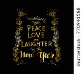 wishing you peace love and... | Shutterstock .eps vector #770941588