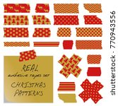 real adhesive tapes set.... | Shutterstock .eps vector #770943556