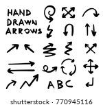 hand drawn vector arrows | Shutterstock .eps vector #770945116