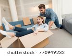 young couple having fun while...   Shutterstock . vector #770949232