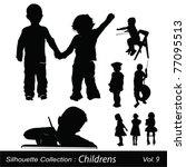 children and childhood | Shutterstock .eps vector #77095513