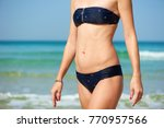 female torso. woman walking out ... | Shutterstock . vector #770957566