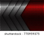 abstract silver arrow red... | Shutterstock .eps vector #770959375
