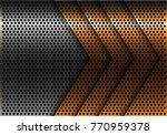 abstract gold arrow silver...   Shutterstock .eps vector #770959378