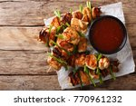dakkochi  korean chicken on a... | Shutterstock . vector #770961232
