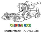 funny combine harvester with... | Shutterstock .eps vector #770961238