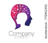 vector symbol of human head.... | Shutterstock .eps vector #770961592