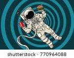 astronaut in zero gravity with... | Shutterstock .eps vector #770964088