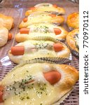 sausage breads with mayonnaise  ... | Shutterstock . vector #770970112