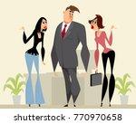 vector illustration of a man... | Shutterstock .eps vector #770970658