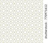 arabic geometric seamless... | Shutterstock .eps vector #770971612