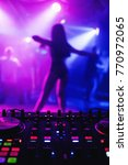 night club with dj mixer and... | Shutterstock . vector #770972065