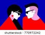 couple in love. beautiful girl...   Shutterstock .eps vector #770972242