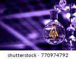 group of ultra volet lamps with ... | Shutterstock . vector #770974792