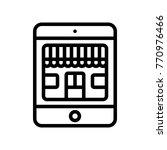 ecommerce   mobile shop  | Shutterstock .eps vector #770976466