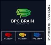 modern brain logo | Shutterstock .eps vector #770985262