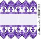seamless lace pattern  flower... | Shutterstock .eps vector #770986162