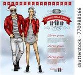 vector illustration fashion man ... | Shutterstock .eps vector #770988166