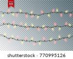 christmas festive lights....   Shutterstock .eps vector #770995126