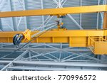 factory overhead crane hook and ...   Shutterstock . vector #770996572
