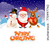 christmas card with santa | Shutterstock .eps vector #770997742