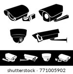 Set Of Security Camera Icon....