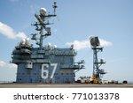 us aircraft carrier | Shutterstock . vector #771013378