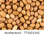 peanuts dry background | Shutterstock . vector #771021142