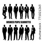 set of silhouettes of business... | Shutterstock .eps vector #771021265