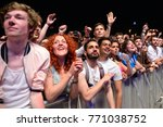 barcelona   may 30  the crowd... | Shutterstock . vector #771038752