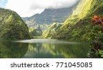 tahiti in french polynesia ... | Shutterstock . vector #771045085