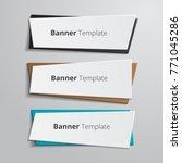 set of geometric vector banners.... | Shutterstock .eps vector #771045286