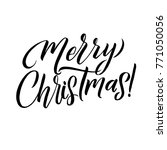 merry christmas calligraphy... | Shutterstock .eps vector #771050056