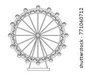 ferris wheel recreation... | Shutterstock .eps vector #771060712