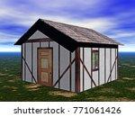 dwelling house 3d rendering | Shutterstock . vector #771061426