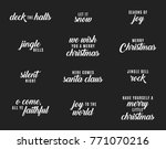holiday christmas vector text... | Shutterstock .eps vector #771070216